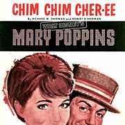 SOLD 1963 1st Ed Disney MARY POPPINS �Chim Chim Cher-ee� � Sheet Music / RARE ...