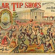 Antique 1800's Victorian Trade Card 'Solar Tip Shoes' Lithograph � Advertising  /  Ephemera