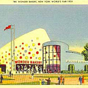 SOLD RARE 1939 New York World Fair 'The Wonder Bakery' Postcard - Advertising / Unused / ...