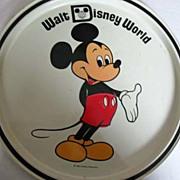 1960's MICKEY MOUSE Walt Disney World Tin Tray, Florida - Vintage Walt Disney Productions, Car