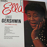 SOLD 1950's 'Ella Sings Gershwin' Record, Ella Fitzgerald, Jazz - George Gershwin, Ellis Larki