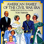 Tom Tierney Paper Dolls, Uncut, 1800's Civil War Fashion - 1985 Original Dover, American Famil