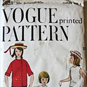 1958 Vogue #2828 Girls' Size 6, Bust 24, UNCUT - Jacket, Blouse, Skirt, Pants, Printed Pattern