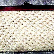 SOLD FABULOUS 1950�s Vintage �La Regale� Straw Purse --  STYLISH Lucite Frame / Fashion
