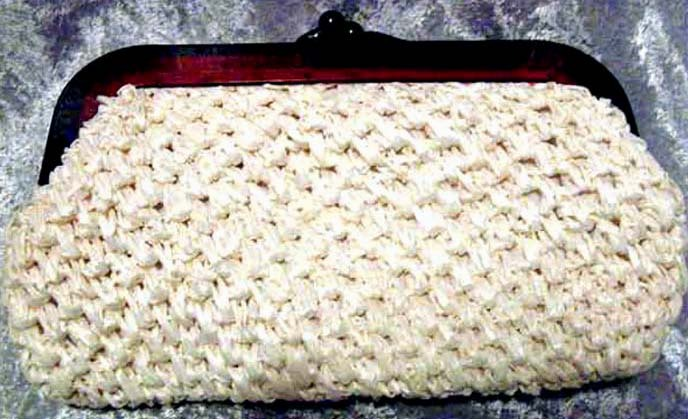 FABULOUS 1950's Vintage `La Regale' Straw Purse --  STYLISH Lucite Frame / Fashion