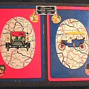 SOLD Rare 1950's CARS Double Deck Playing Cards w/ Original Box - ARRCO / Vintage /