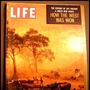 SOLD RARE April 1959 Life Magazine 'How The West Was Won' -  Dr. Seuss / Native American / Bob