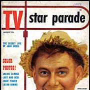 SOLD RARE August, 1953 'TV Star Parade' Magazine - Lucille Ball / Desi Arnez / Eddie Fisher /