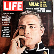 December 14, 1962 LIFE Magazine 'Marlon Brando' Cover -- President Kennedy / Vintage / History