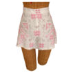 "Vintage Cross Stitched Cotton Fabric ""Tap Pant"" Style Shorts"
