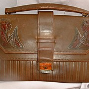 Early 20th Century Art Nouveau Leather Purse