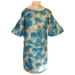 Early Sixties  Blue Floral Silk Suit  New/Old