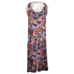 Wild 1960's Print  Long Silk Tunic  S