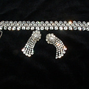 SALE Rhinestone Bracelet and Earrings