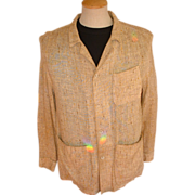 ADOLFO Men's Vintage Summer Weight Jacket 38R