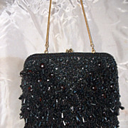 Black Beaded Evening Purse & Coin Purse