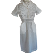 1950's White Nylon Uniform New/Old