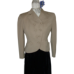 1940's Beige Grey Wool Jacket S/M