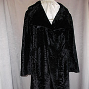 1960's Crushed Velvet Coat - Made in England -  M/L