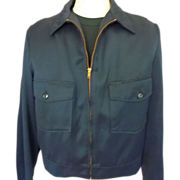 1950's/60's Men's Zip Front Cotton Gabardine Jacket 46R