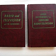 SALE 40% Off~Two Vintage Collectible Books Television TV Repair & Information Hard Back by ...