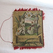 SALE 30% Off~Rare Vintage19th Century Poem Book Rock Me to Sleep Mother 1882