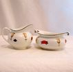 20% Off~Vintage Collectible Porcelain Sugar & Creamer Set Signed M.Z. Austria 1884-1909 MINT