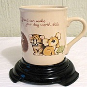 SALE 20% Off~Darling Vintage Collectible Hallmark Friendship Animal Theme Mug~1983~MINT