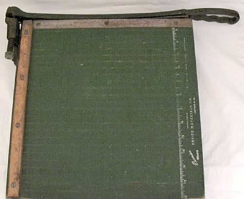 30% Off~Vintage Collectible Guillotine Paper Cutter By Photo Materials Co. Chicago 10,Il 1930-50s