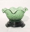 Vintage Collectible Light Green 6 Inch Crimp Bowl by L.G. Wright in The Daisy & Button Pattern from 1960-70s Mint