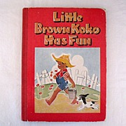SALE 20% OFF Hard to Find Vintage Stories of Little Brown KoKo Has Fun Book  2nd Edition