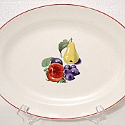 SALE 20% OFF Vintage Collectible Edwin M. Knowles Utility Ware Platter With Fruit Motif 1940s