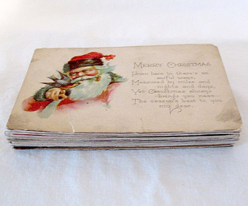 20% Off~Vintage Collectible 29 Postcards Representing Christmas New Years Easter Thanksgiving 1908-1923