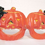 SALE Vintage Collectible Halloween Plastic Glasses Made by Foster Grant 1950s