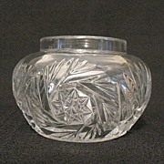 SALE 20% OFF Vintage Collectible Heisey Glass Vanity Hair Receiver/Jar Sunburst Pattern 1903-1