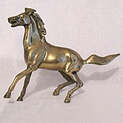 SALE 25% OFF Vintage Collectible Solid Brass Metal Horse Running 1950s Excellent Condition