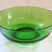 "SALE 15% OFF MAY ONLY Vintage Collectible Emerald Green 9 1/4"" Bowl 1940-50s Mint Conditi"