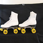 SALE Vintage Collectible Roller Derby Flyer Skates  Full Grain Leather Shoes Jumbo Urethane ..