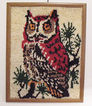 20% OFF Vintage Collectible Owl Latch Hook Rug/Wall Display Folk Art 1960-70s Very Good Condition