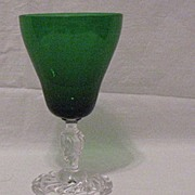 SALE 20% OFF Vintage Collectible Fostoria 11 Oz Goblet Colonial Dame Pattern #5412 Empire Gree