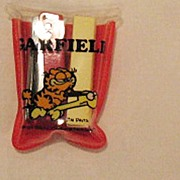 Vintage Collectible Garfield Miniature Stapler With Staples & Case Creations by Dakin 1978 Exc