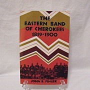 Vintage Paperback Book The Eastern Band Of Cherokees 1819-1900 Copyright 1984 Very Good Condit