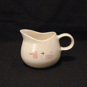 Vintage Collectible Retro Metlox Gravy Boat With Tickle Piink Pattern 1950s Excellent Mint Con