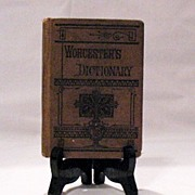 SALE 20% OFF Vintage  Worcester's Pocket Dictionary Good Condition 1877