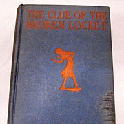SALE Reduced 50% Vintage Carolyn Keene's The Clue of The Broken Locket 1934 Copyright Very Goo