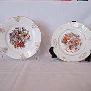 "Vintage Collectible (2) Z S & Co 7 1/2"" Salad Plates Fine Porcelain 1880-1918 Excellent C"