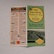 Vintage Collectible John Deere Advertising Pamphlet The New John Deere Side-Delivery Rake With