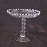 Vintage Imperial 4-Ball Stem Compote #400/48F in Candlewick Pattern Like New Condition
