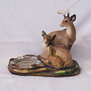 Vintage Collectible Deer Family Ashtray Cody Ornamental Arts & Crafts 1940-50s Excellent ...