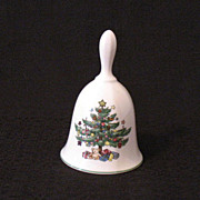 Vintage Collectible Nikko Classic Collection Christmas Bell Christmas Tree Motif Excellent Con